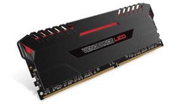 CORSAIR 16GB=2x8GB DDR4 2666MHz VENGEANCE LED LPX BLACK +RED LED PC4-21300 CL16-18-18-36 1.2V XMP2.0 (16GB=kit 2ks 8GB s - CMU16GX4M2A2666C16R