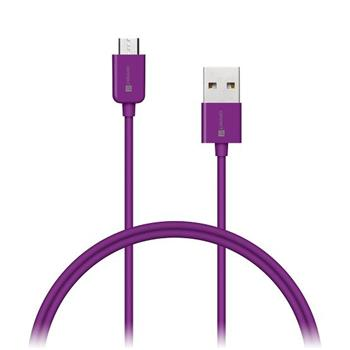 CONNECT IT Wirez COLORZ kabel micro USB - USB, 1m, fialový - CI-576