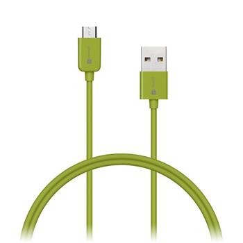 CONNECT IT Wirez COLORZ kabel micro USB - USB, 1m, zelený - CI-571