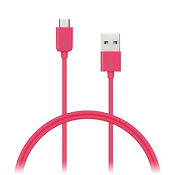 CONNECT IT Wirez COLORZ kabel micro USB - USB, 1m, růžový - CI-574