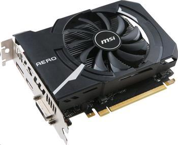 MSI GeForce GTX 1050 Ti AERO ITX 4G OCV1 / PCI-E / 4096MB GDDR5 / HDMI / DL DVI-D / DP / active - GTX 1050 Ti AERO ITX 4G OC