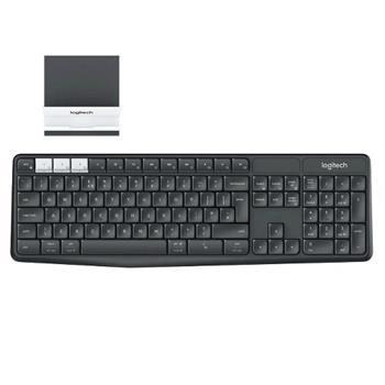 Logitech klávesnice K375s + stojan na mobil/tablet, CZ , černá - 920-008182