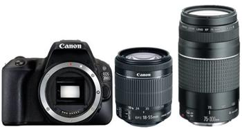 Canon EOS 200D + 18-55mm STM + 75-300mm DC - Double zoom