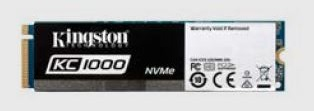Kingston SSD 240GB KC1000 NVMe PCIe Gen3x4 M.2 2280 MLC (R/W:2700/900MB; IOPS: 225/190K) - SKC1000/240G
