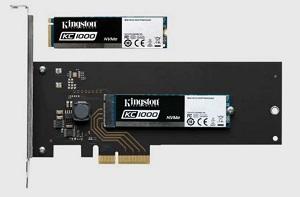 Kingston SSD 240GB KC1000 NVMe PCIe Gen3x4 M.2 2280 MLC (R/W:2700/900MB; IOPS: 225/190K) + PCIe adaptér - SKC1000H/240G