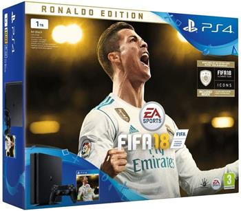 SONY PlayStation 4 1TB Slim + FIFA 18 Ronaldo Edition - PS719916765