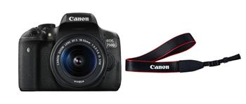 Canon EOS 750D + EF-S 18-55mm IS STM + Strap - 0592C038
