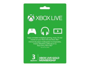 Microsoft Live 3 months Gold Card - elektronicky - S2T-00006