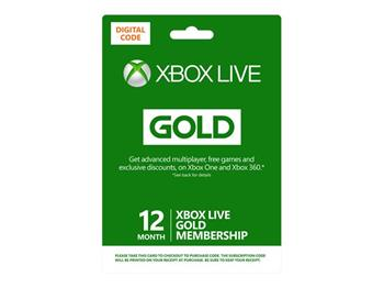 Microsoft Live 12 months Gold Cards - elektronicky - S4T-00019