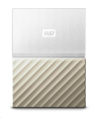 """WD My Passport ULTRA 2TB Ext. 2.5"""" USB3.0 bílo-zlatá - WDBFKT0020BGD-WESN"""