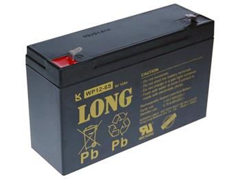 Long 6V 12Ah olověný akumulátor F1 - PBLO-6V012-F1A