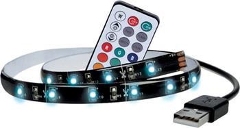 Solight LED RGB pásek pro TV, 2x 50cm, USB, vypínač, dálkový ovladač - WM504