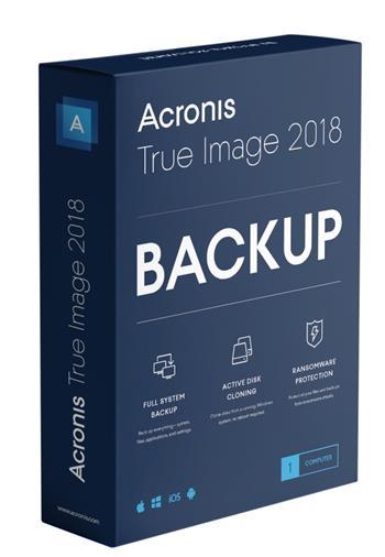 Acronis True Image 2018 BOX CZ - TIHOB2CZS