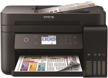 EPSON tiskárna ink L6170, 3in1, CIS, A4, 33ppm, 4ink, USB, Wi-Fi, Ethernet, Auto sheet feeder,LCD, 3 roky záruka po reg. - C11CG20402