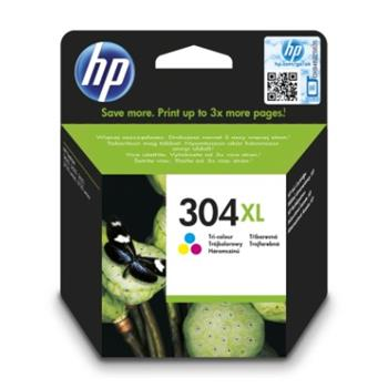 HP 304XL Tri-color Ink Cartridge, N9K07AE - N9K07AE