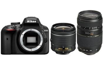 NIKON D3400 + AF-P 18-55 non VR + Tamron 70-300mm - double