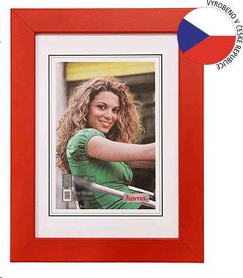 Hama rámeček dřevěný JESOLO, červená, 13x18cm - 154403