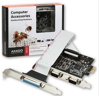 AXAGO PCI-Express adapter 2x sériový + 1x par. - PCEA-SP