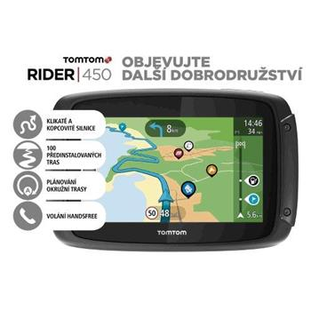 TomTom Rider 450 World pro motocykly Premium pack, LIFETIME mapy - 1GE0.002.21
