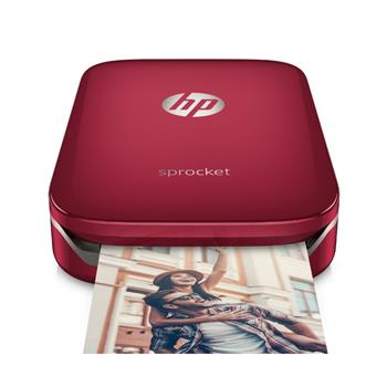 HP Sprocket Photo Printer, červená, 5x 7.6cm, 42 sekund/strana, Bluetooth - Z3Z93A