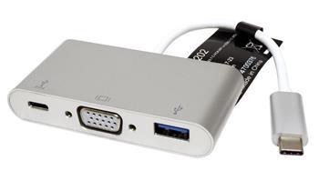 Roline Adaptér USB 3.1 USB C(M) -> VGA(F), USB 3.0 A(F), USB C(F) PD - 12.03.3202
