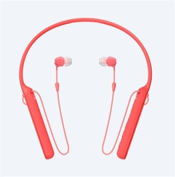 Sony WI-C400R bezdrátová sluchátka, červená - WIC400R.CE7