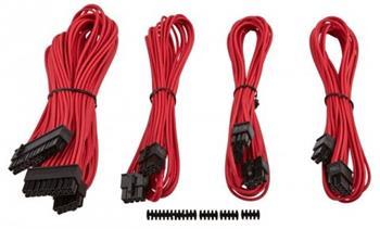 Corsair Professional Individually sleeved sada DC kabelů, Type 4, červená - CP-8920145