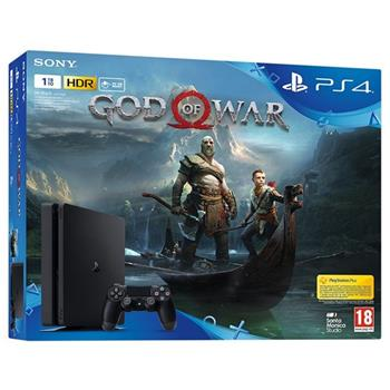 SONY PlayStation 4 Slim, 1TB, černá + God of War - PS719384878