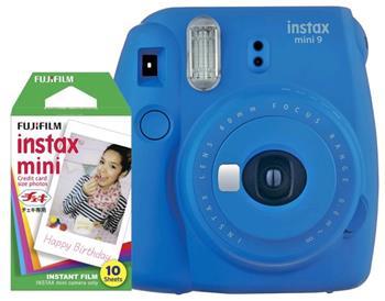 Fujifilm INSTAX MINI 9 bundle (with 1x10 film) - Cobalt Blue - 70100138445