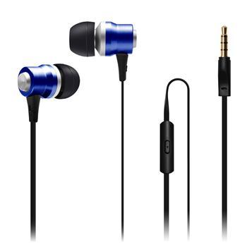 CONNECT IT IT Alu Sonics sluchátka do uší EP-224-BL s mikrofonem, modrá - CI-1042