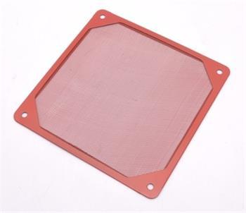 PRIMECOOLER PC-DFA120R 120mm prachový filtr, červený - PC-DFA120R