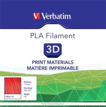 VERBATIM Filament Retail BOX PLA 1.75mm 1kg - RED - 55270