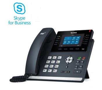 """Yealink SIP-T46S IP tel., PoE, 4,3"""" bar. LCD, 27 prog.tl., GigE, Skype for Business - 320A502"""
