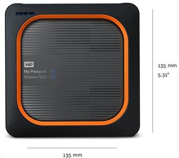 WD My Passport Wireless SSD 1TB Ext. USB3.0, SD Card - WDBAMJ0010BGY-EESN