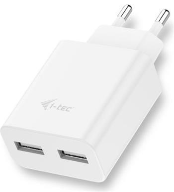 i-tec USB nabíječka 2 Port 2.4A bílá - CHARGER2A4W