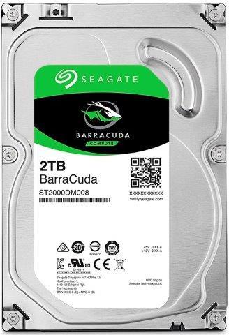 Seagate Barracuda 2TB 3.5'' HDD, SATA3, 7200RPM - ST2000DM008