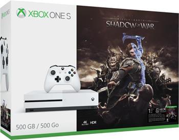 XBOX ONE S - 500GB + Shadow of War - ZQ9-00164