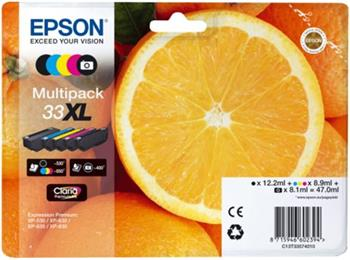 Epson Multipack 5-colours 33XL Claria Premium Ink - C13T33574011