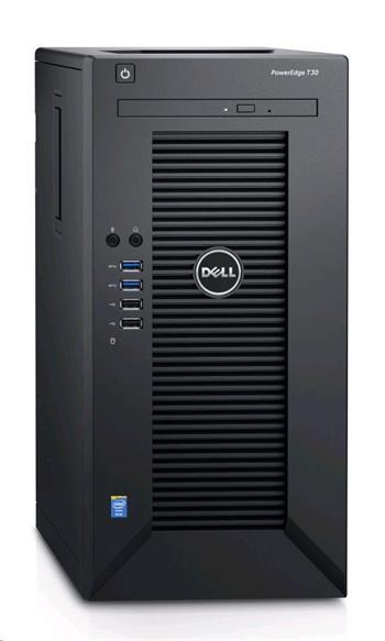 DELL PowerEdge T30/ Xeon Quad Core E3-1225 v5/ 16GB/ 2x 120GB SSD + 2x 2TB 7200 ot. R1+R1/ DVDRW/ 3YNBD on-site - T30-2121622-3PS
