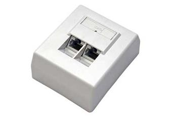 UTP zásuvka na omítku, cat.5e, 2x RJ45, šikmý vývod zpředu - 25.16.8406