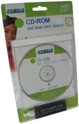 Čisticí disk pro DVD-ROM/ CD-ROM s přípravkem, 4World - SFT00430