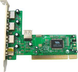 4World 4(externí)+1(interní)xUSB 2.0, PCI - 02997