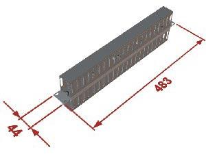 "Triton 19"" vyvazov. panel 1U oboustranná plast. - RAX-VP-X03-A1"