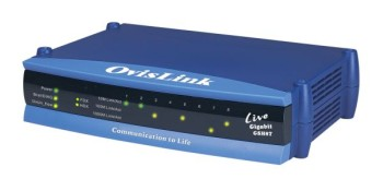 OvisLink Live GSH8T 8-port 10/100/1000Mbps compact switch - 4719869611277
