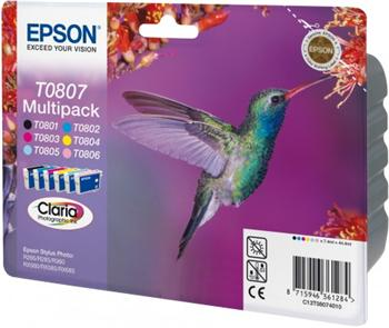 Epson ink čer+bar CLARIA Stylus Photo R265/ RX560/ R360 - photo multipack - C13T08074011