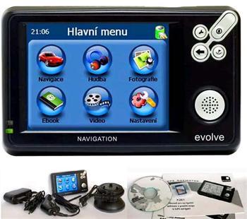 "GPS navigace EVOLVE (TFT 3,5"", MP3/MP4,CZEE mapa) -"
