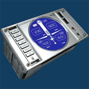 """Panel do 5.25"""" pozice AEROCOOL GateWatch2, Stříbrný, 4xfan, 2xUSB, 2xAudio - ID012947"""