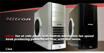 AEROCOOL Nitron SILVER, ATX bez zdroje, Stříbrná, USB2, Audio - ID012954