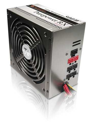 Zdroj Thermaltake PurePower RX™W0142RE, 500W ATX12V 2.2+EPS, CableManagement - W0144RE