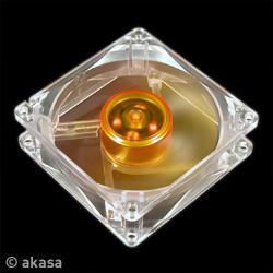 AKASA AK-182-L2B 8cm Amber Case Fan, 3 Pin, 2 Ball Bearing, Ultra Quiet and Long - AK-182-L2B